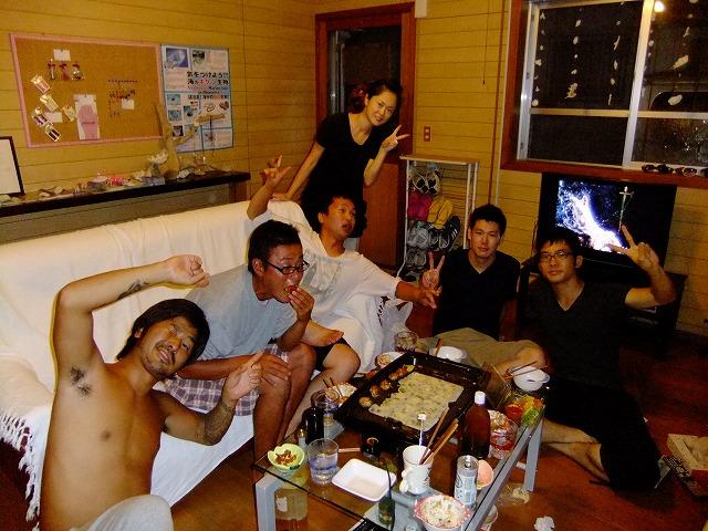 沖縄ダイビングのお店-たこやきパーティ^^