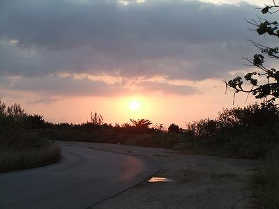 沖縄の朝焼け